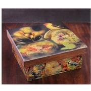 Novica Still Life Fair Trade Mexican Decoupage Bird Tea Box