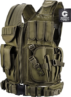 Barska Loaded Gear Vx-200 Tactical Right Hand Vest OD Green (BI12332)