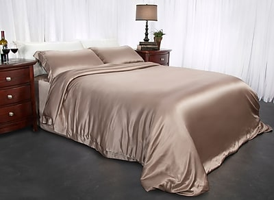 Barska Aus Vio 100% Silk Duvet Cover King/Cal King Pebble (BM12098)