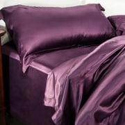 Barska Aus Vio 100% Silk Flat Sheet King/Cal King Iris  (BM12118)