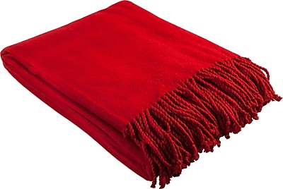 Barska Aus Vio 100% Silk Fleece Throw Blanket, Red (BM12222)