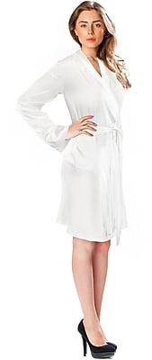 Barska Aus Vio 100% Silk Robe M/L, White (BM12578)