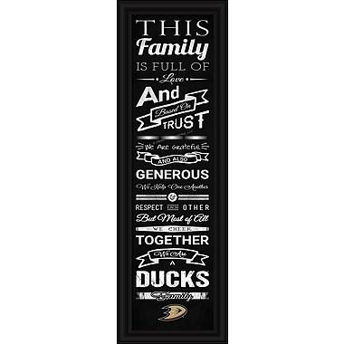 Art mural encadré, impression d'encouragement, Ducks d'Anaheim