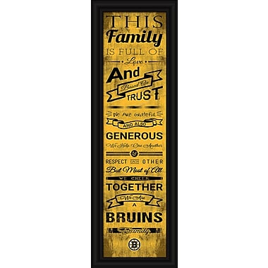 Sports Art Framed Quality Cheer Print, Boston Bruins