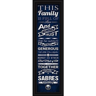 Sports Art Framed Quality Cheer Print, Buffalo Sabres
