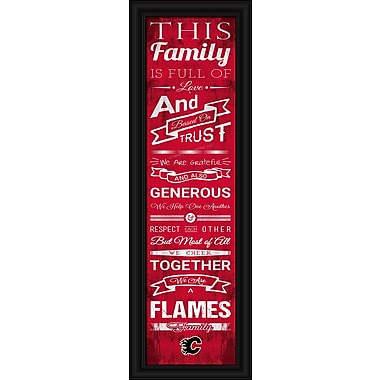 Sports Art Framed Quality Cheer Print, Calgary Flames