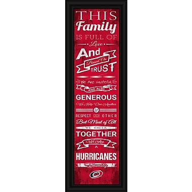 Sports Art Framed Quality Cheer Print, Carolina Hurricanes