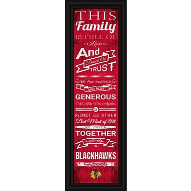 Sports Art Framed Quality Cheer Print, Chicago Blackhawks
