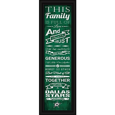 Sports Art Framed Quality Cheer Print, Dallas Stars