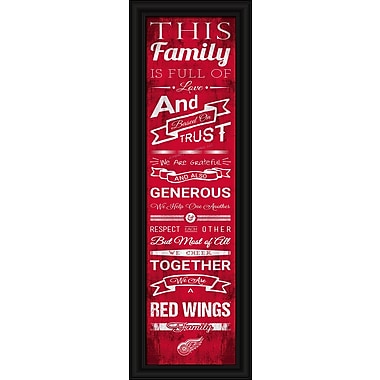 Sports Art Framed Quality Cheer Print, Detroit Red Wings