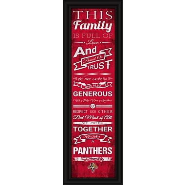 Sports Art Framed Quality Cheer Print, Florida Panthers