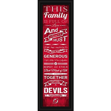 Sports Art Framed Quality Cheer Print, New Jersey Devils