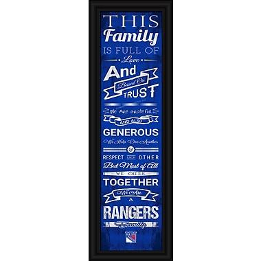 Sports Art Framed Quality Cheer Print, New York Rangers