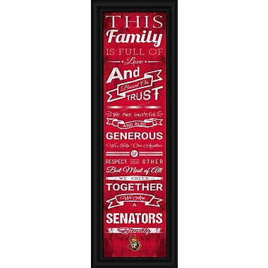 Sports Art Framed Quality Cheer Print, Ottawa Senators