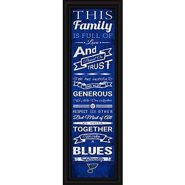 Sports Art Framed Quality Cheer Print, St. Louis Blues