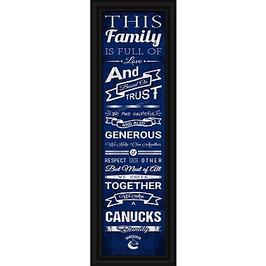Sports Art Framed Quality Cheer Print, Vancouver Canucks