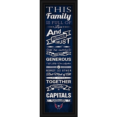 Sports Art Framed Quality Cheer Print, Washington Capitals