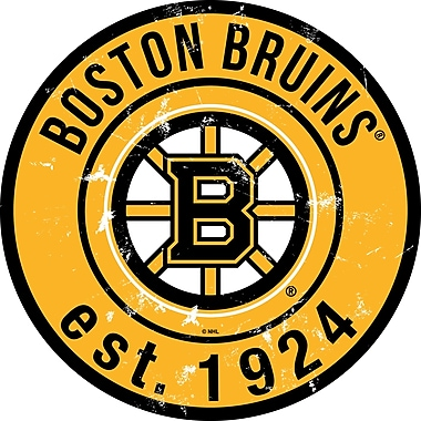 Art mural, signe circulaire de 24 po, Bruins de Boston
