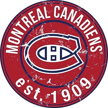 Art mural, signe circulaire de 24 po, Canadiens de Montréal