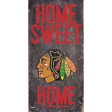 Sports Art Hanging Home Decor Plaque, Chicago Blackhawks