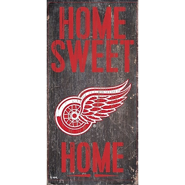 Sports Art Hanging Home Decor Plaque, Detroit Red Wings
