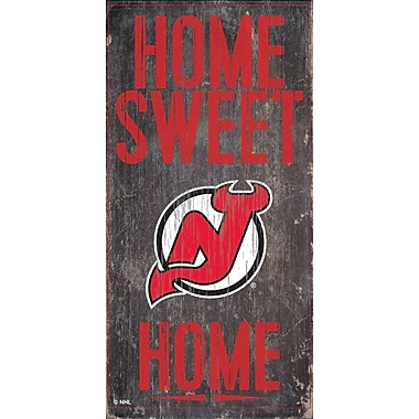 Sports Art Hanging Home Decor Plaque, New Jersey Devils