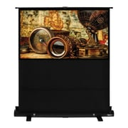 Hamilton Buhl™ AC-6839 Pull Up Portable Floor Rising HDTV Projector Screen, 80""