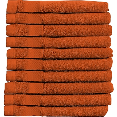 Maison Condelle Sandra Venditti Wash Cloth 10 Piece Towsel Set (Set of 10); Tangerine