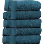 Maison Condelle Sandra Venditti Hand Towel 5-piece Towel Set (Set of 5); Teal
