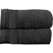 Maison Condelle Sandra Venditti Bath Towel 2 piece Towel Set (Set of 2); Black