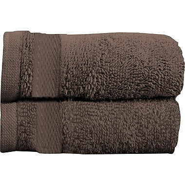 Maison Condelle Sandra Venditti Bath Towel 2 piece Towel Set (Set of 2); Chocolate