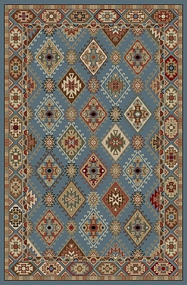 Mayberry Rug Lodge King Blue Area Rug; 5'3'' x 7'7''