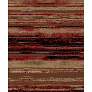 Mayberry Rug Lodge King Red/Brown Area Rug; 7'10'' x 9'10''