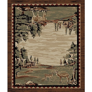Mayberry Rug Lodge King Brown Area Rug; 7'10'' x 9'10''