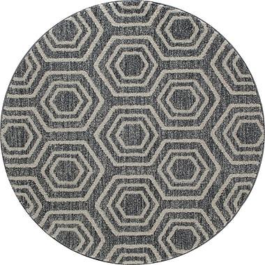 Art Carpet Highline Gray Area Rug; ROUND 5'3