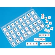 Primary Concepts Tablitas con letras por ambos lados, Two-Sided Letter Tiles, 4/Pack (3202)