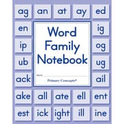 Primary Concepts Word Family Notebook, Grades K-1, 20/Pack (3901)