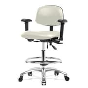 Perch Chairs & Stools Low-Back Drafting Chair; Adobe White Vinyl