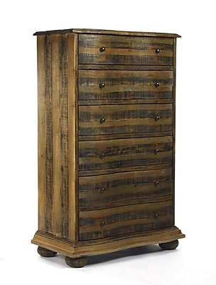 Zentique Inc. Recycled Pine 6 Drawer Chest; Brown