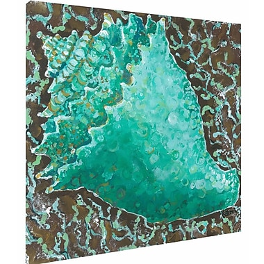 My Island Conch Shell Mounted by Gerri Hyman Painting Print on Canvas; 20'' H x 20'' W x 1.5'' D