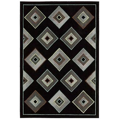 Kathy Ireland Home Gallery Palisades Retrotimes Black Area Rug; 8' x 10'6''