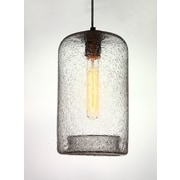 Viz Glass Vintage 1-Light Pendant; Clear