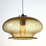 Viz Glass Vintage 1-Light Pendant