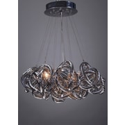 Viz Glass Infinity 5-Light Cluster Pendant; Metallic Silver