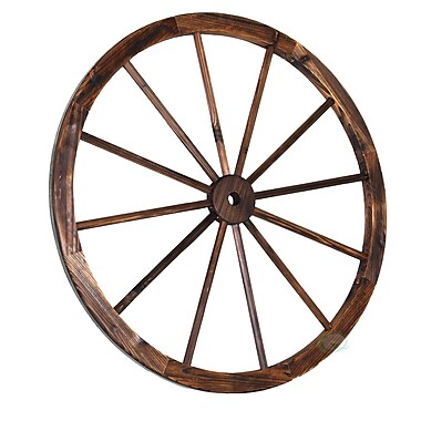 Quickway Imports Decorative Antique Wagon Garden Wheel