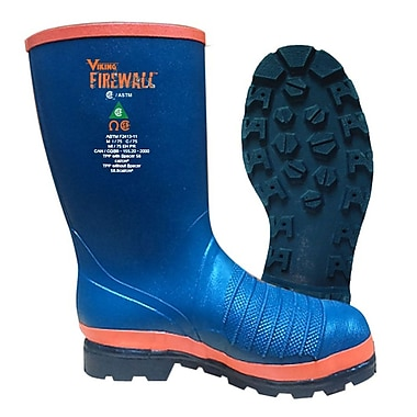 Viking Firewall Rigger Boot, Slip-On, Lug Sole, Steel Toe & Plate, Size 14 (VFW60-1-14)
