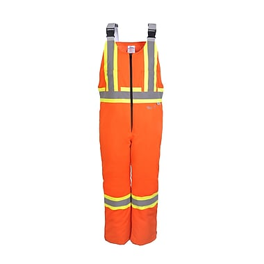 Viking Insulated Bib, 65/35 Polyester/Cotton, Orange, Small (VC50PO-S)