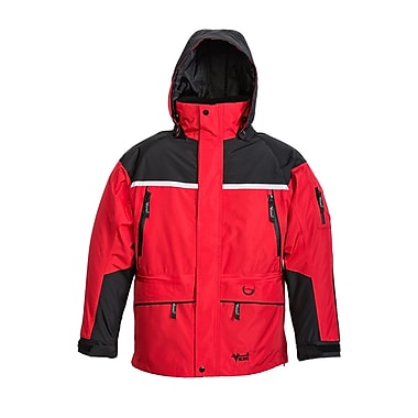 Viking – Veste plein air 3 en 1, 3 sorties pour circulation d'air, noir/rouge, très grand (858JBR-XL)