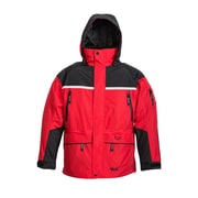 Viking – Veste plein air 3 en 1, 3 sorties pour circulation d'air, noir/rouge