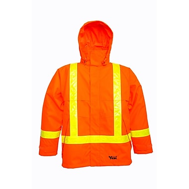 Viking Jacket with Reflective Safety Stripes, Fluorescent Orange, 3X-Large (3010J-XXXL)